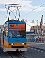 Tram in Sofia in front of Central Railway Station 2012 PD 091.jpg