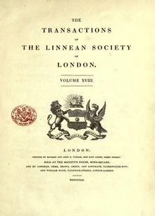 Transactions of the Linnean Society of London, Volume 18.djvu