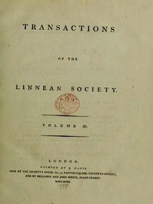 Transactions of the Linnean Society of London, Volume 3 (1797).djvu