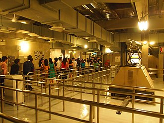 Transformers: The Ride 3D - A portion of the queue at Universal Studios Singapore