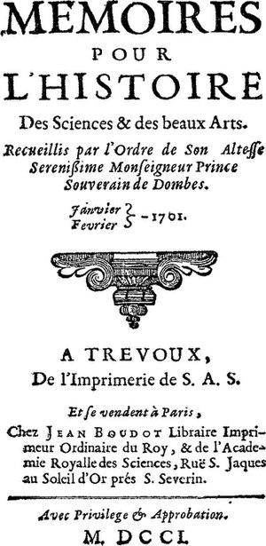 Journal de Trévoux - Image: Trevoux
