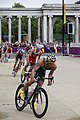 Triathletes pedal power as they cycle the route near Green park (7741294772).jpg