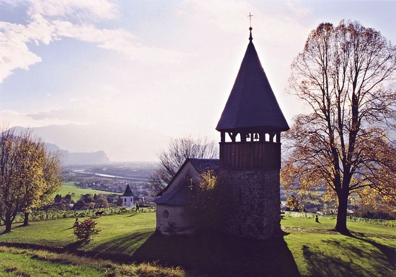 Chapel Saint Mamerten in Triesen, principality of Liechtenstein