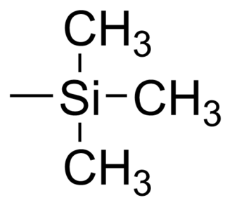 Trimethylsilyl - Image: Trimethylsilyl group