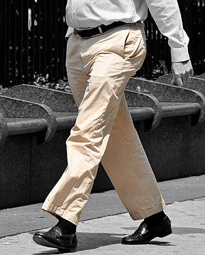 Khaki trousers, colour isolated