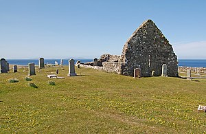 Battle of the Spoiling Dyke - The ruins of Trumpan Church