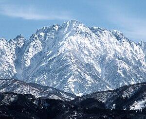 Mount Tsurugi (Toyama) - View from northwest
