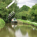 Turflea Lift Bridge - Lifted. Upper Peak Forest Canal - geograph.org.uk - 573759.jpg