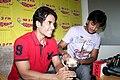 Tusshar Kapoor, Riteish Deshmukh Kyaa Super Kool Hain Hum' team at 98.3 FM Radio Mirchi 01.jpg