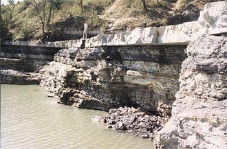Tuttle Creek Lake - Tuttle Creek spillway after 1993 flood
