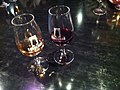 Two glasses of Sandemans port (5481970344).jpg