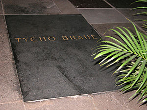 Church of Our Lady before Týn - Tycho Brahe's grave, new tomb stone from 1901