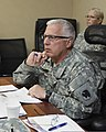 U.S. Army Maj. Gen. Myles Deering, the adjutant general of Oklahoma, listens to a brief of cleanup activities May 25, 2013, in Moore, Okla 130525-Z-VF620-788.jpg