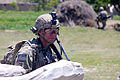 U.S. Army Sgt. Mark Kresge, with Baker Company, 1st Battalion, 506th Infantry Regiment, 4th Brigade Combat Team, 101st Airborne Division, provides security in Paktia province, Afghanistan, May 29, 2013 130529-A-CW939-132.jpg