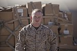 U.S. Marine Corps Cpl. James Register, assigned to Combat Logistics Regiment 2, Regional Command (Southwest), poses for a photo Oct. 3, 2013, at Camp Leatherneck, Afghanistan 131003-M-ZB219-044.jpg