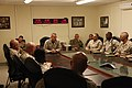 U.S. Marine Corps Sgt. Maj. Bryan B. Battaglia, center, the senior enlisted adviser to the Chairman of the Joint Chiefs of Staff, speaks with the senior enlisted Service members with Regional Command Southwest 130506-A-CL397-091.jpg