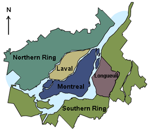 2002–06 municipal reorganization of Montreal - Metropolitan Community of Montreal and its five constituent parts