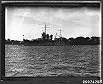 USS ASTORIA at anchor in Farm Cove, Sydney (8558887540).jpg