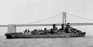 USS Hyman - USS Hyman in San Francisco Bay, 20 July 1945.