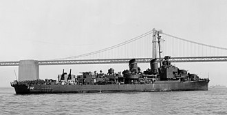 USS Hyman - USS Hyman in San Francisco Bay, 20 July 1945.