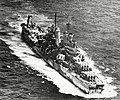 USS Pittsburgh (CA-72) underway after she lost her bow in June 1945.jpg