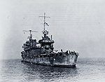 USS San Francisco (CA-38) returns to San Francisco on 12 December 1942 (80-G-40250).jpg