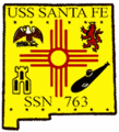 USS Santa Fe (SSN-763) Ship crest.png