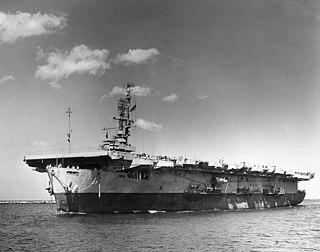 USS <i>Solomons</i> (CVE-67) Casablanca-class escort carrier of the US Navy