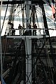 US Navy 040903-N-0335C-041 Sailors stand on the main fighting top aboard USS Constitution during annual chief petty officer (CPO) selectee training.jpg