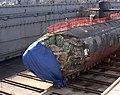 US Navy 050127-N-4658L-030 Submarine USS San Francisco in dry dock to assess damage Guam Jan 8 2005.jpg