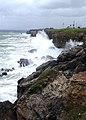 US Navy 050708-N-2903M-001 Waves crash against the southern coastline of Naval Station Guantanamo Bay, Cuba, just east of the base lighthouse.jpg