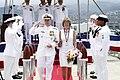 US Navy 050708-N-3207B-171 Adm. Walter F. Doran and his spouse, pass through the honor side boys.jpg