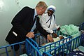 US Navy 070321-F-0524H-151 Chaplain (Cmdr.) W.M. Sonny Dinkins talks with a nun from the Sisters of Charity Baby Clinic in Antananarivo during a trip to meet with area religious leaders.jpg