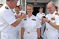 US Navy 070703-N-4238B-045 Capt. Bruce Boynton, Medical Treatment Facility commanding officer, promote PHS Lt. Cmdr. Jennifer Tredway, a surgical nurse attached to Comfort.jpg