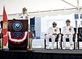 US Navy 070827-N-0696M-037 Vice Adm. Donald C. Arthur, Surgeon General and chief of the Bureau of Medicine and Surgery, speaks during his change of office and retirement ceremony.jpg