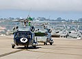 US Navy 070827-N-5207L-014 Helicopters assigned to Helicopter Anti-Submarine Squadron (HS) 8 arrive to their home base at Naval Air Station North Island concluding a 7.5-month deployment aboard USS John C. Stennis (CVN 74).jpg