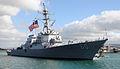 US Navy 090821-N-3666S-028 Sailors man the rails aboard the Arleigh Burke-class guided-missile destroyer USS Paul Hamilton (DDG 60).jpg