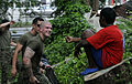 US Navy 091027-N-7280V-790 Marines assigned to Fleet Anti-terrorism Security Team Pacific (FASTPAC) Company, 5th Platoon, help clean at Agathians Children's Home during a community service project.jpg