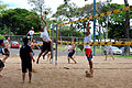 US Navy 100629-N-7200S-084 apan Maritime Self-Defense Force and French Navy sailors battle for a point during a morale, welfare and recreation volleyball tournament as part of an in-port period of Rim of the Pacific (RIMPAC) 20.jpg