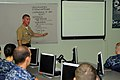 US Navy 110504-N-5226D-006 Sonar Technician (Surface) 2nd Class Jon Whitehair teaches a class.jpg