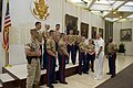 US Navy 110613-N-ZB612-047 Chief of Naval Operations (CNO) Adm. Gary Roughead visits with Marines assigned to the U.S. Embassy in London.jpg