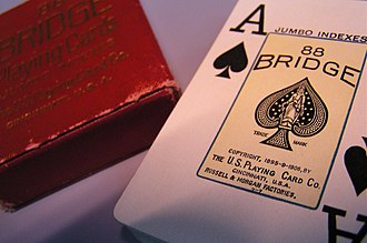 United States Playing Card Company - Bridge playing cards featuring jumbo indexes (1906).