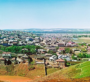 Ufa - Early color photograph of Ufa taken in 1910 by Sergey Prokudin-Gorsky