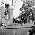 Ulica Tomása Garrigue Masaryka, távolban a református templom, az ulica Zeleznicná sarkáról nézve. Fortepan 53979.jpg