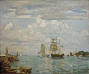 Ulrich Hübner - Dreimaster im Hafen von Travemünde.jpg