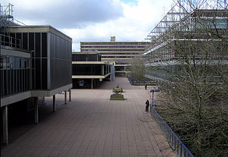 University of Bath - The Parade, a central pedestrian thoroughfare connecting most academic blocks