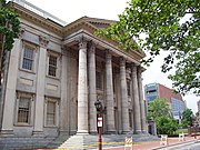 The First Bank of the United States in Philadelphia, Pennsylvania.