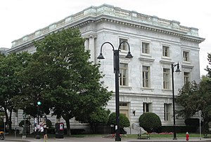 Chittenden County Superior Courthouse - Image: United States Post Office and Custom House Burlington Vermont from west