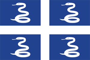 Flag of Martinique - Snake Flag of Martinique