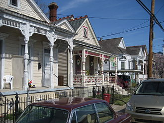 Buildings and architecture of New Orleans - Houses in uptown New Orleans